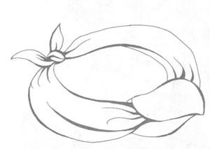 Повязка на шею в стиле