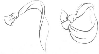Модель платка на шею