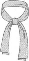 Шарф на шею в стиле