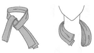 Шарф с экспресс-узлом