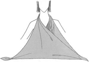 Платок на грудь