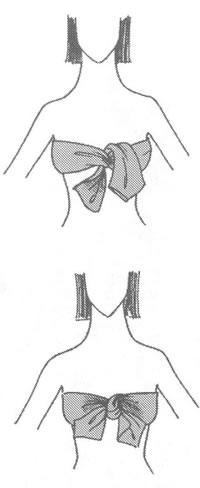 Платок на грудь в стиле