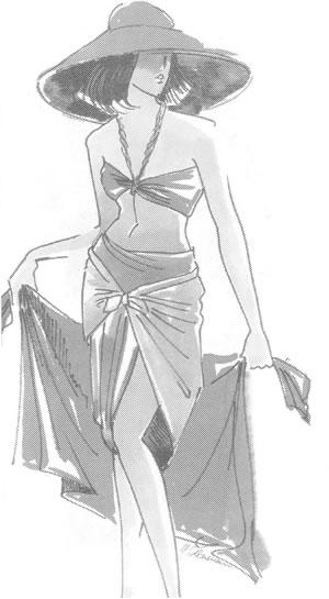 Платки в качестве юбки и брюк