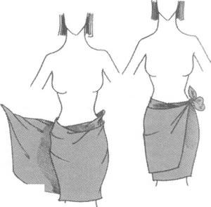 Мини-юбка из платка