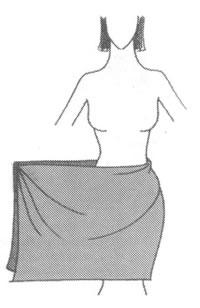 Юбка из платка